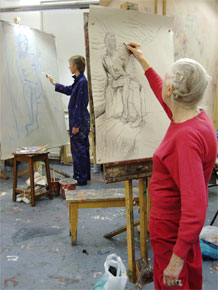 Joan Hargreaves drawing Tereza. Copyright © Malvern Hostick All rights reserved
